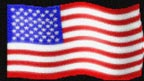clipart Flag of United States of America; patriotic decoration on a black background.